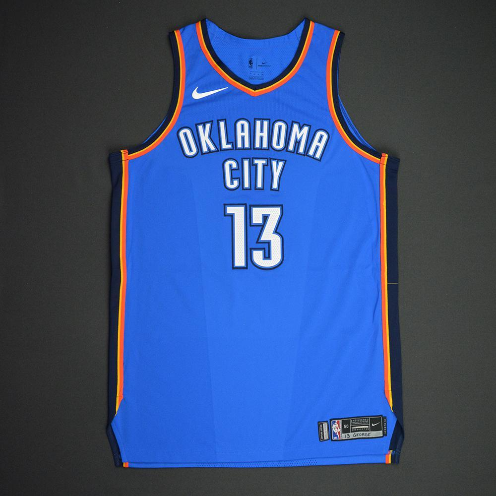 Paul George - Oklahoma City Thunder - NBA Mexico City Games 2017 Game-Issued Jersey