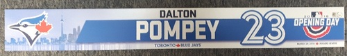Photo of Authenticated Team Issued Opening Day 2018 Locker Name Plate - #23 Dalton Pompey