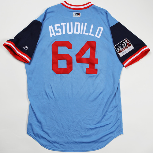 "Photo of Willians ""Astudillo"" Astudillo Minnesota Twins Game-Used Jersey 2018 Players' Weekend Jersey"