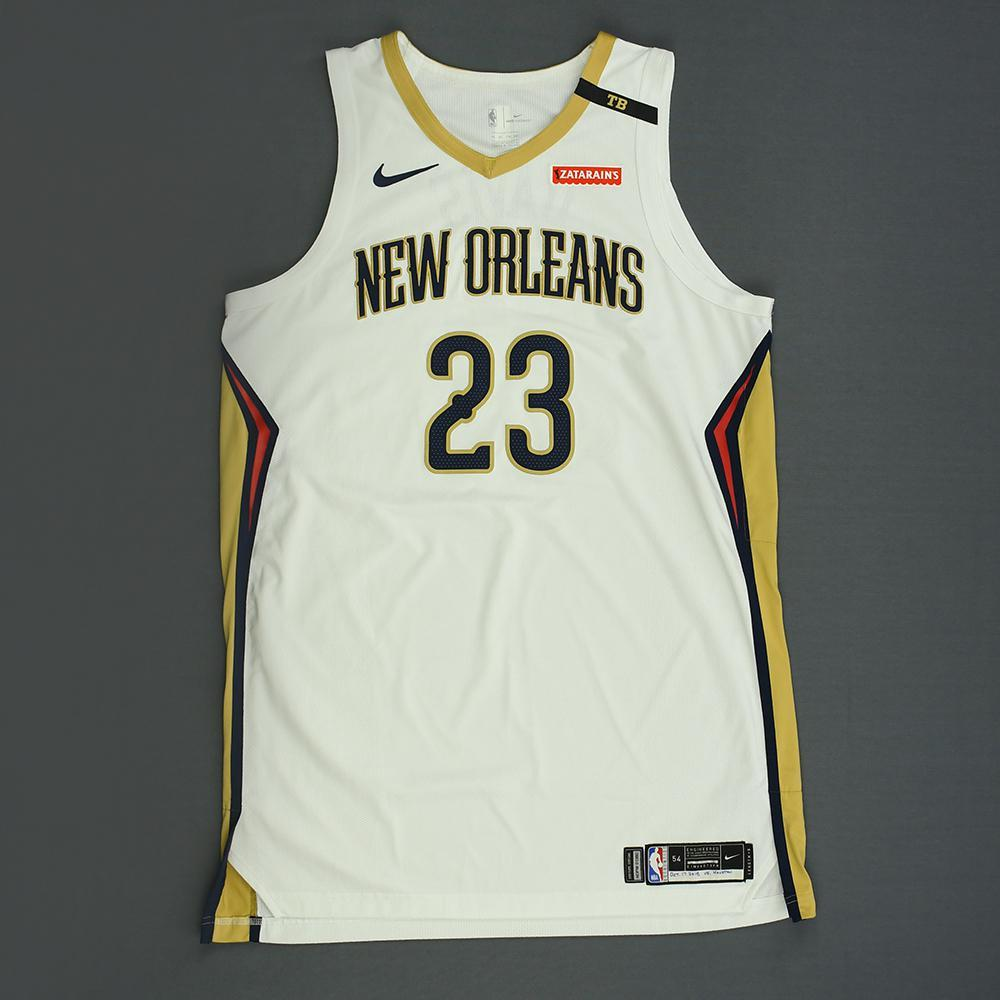 Anthony Davis - New Orleans Pelicans - Kia NBA Tip-Off 2018 - Game-Worn Association Edition Jersey - Double-Double - Scored 32 Points