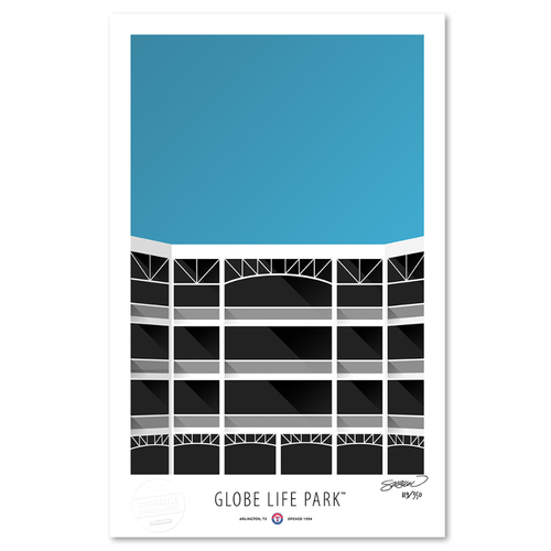Photo of Globe Life Park - Collector's Edition Minimalist Art Print by S. Preston #119/350  - Texas Rangers