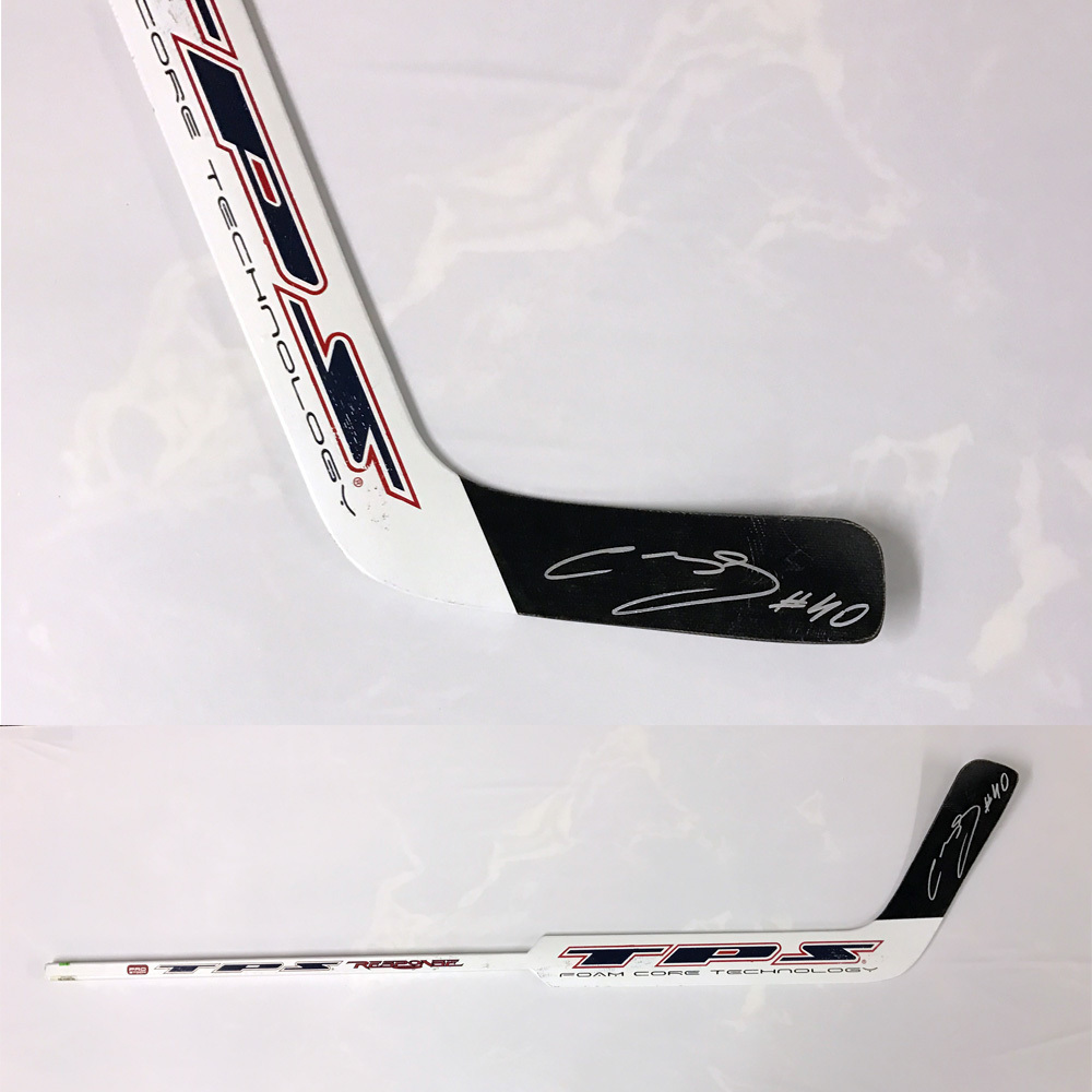 SEMYON VARLAMOV Signed TPS Stick - Washington Capitals