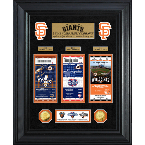 Photo of San Francisco Giants World Series Deluxe Gold Coin & Ticket Collection