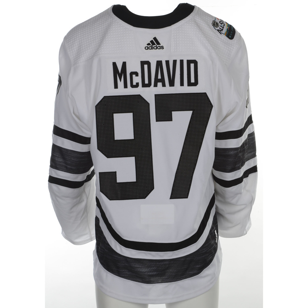 8404e432064 Connor McDavid Edmonton Oilers 2019 NHL All Star Game Media Day Event Worn  Jersey