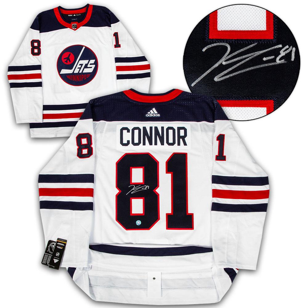 Kyle Connor Winnipeg Jets Signed Heritage Logo Adidas Authentic Hockey Jersey