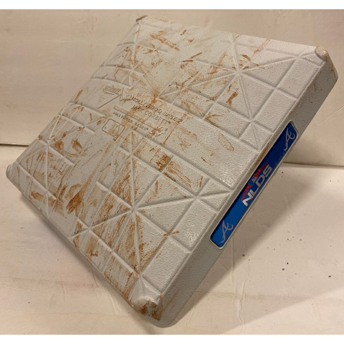 Photo of 2018 NLDS Game Used Base - Second Base Used During 9th Inning - 10/8/18 - Dodgers Clinch
