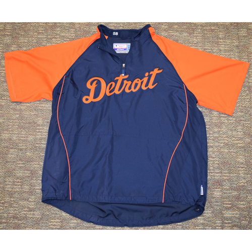 Photo of Orange & Blue Detroit Tigers Pullover #58 (NOT MLB AUTHENTICATED)