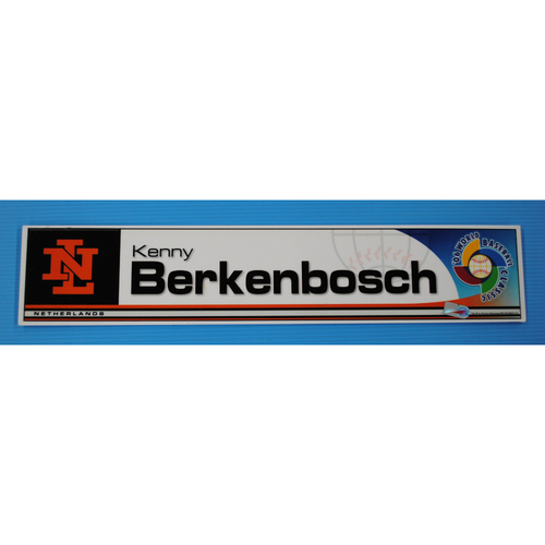 Photo of 2006 Inaugural World Baseball Classic: Kenny Berkenbosch Locker Tag - NED