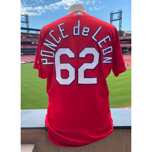 Photo of Cardinals Authentics: Team Issued Daniel Ponce de Leon Batting Practice Jersey