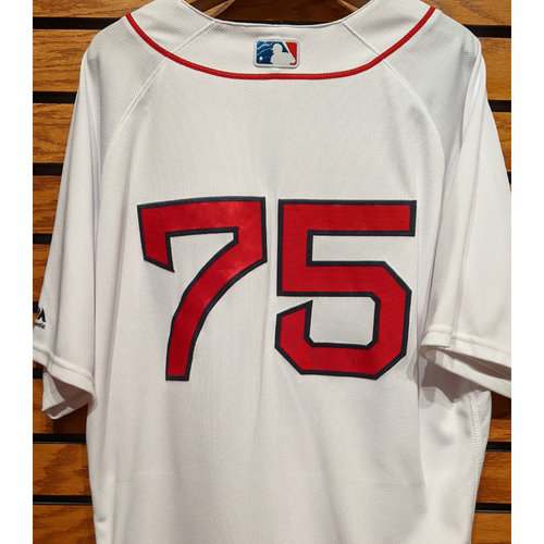 Photo of Jeremy Barfield #75 Team Issued Home White Jersey
