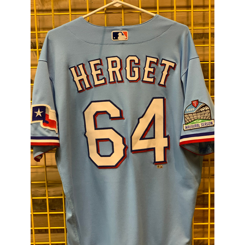 Photo of Jimmy Herget Team-Issued Baby Blue Jersey