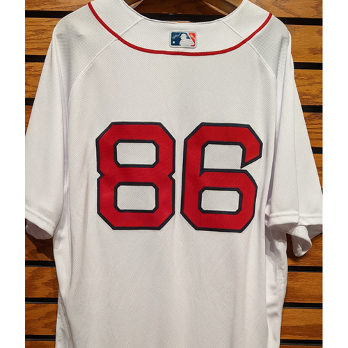 Brian Bannister #86 Team Issued Home White Jersey