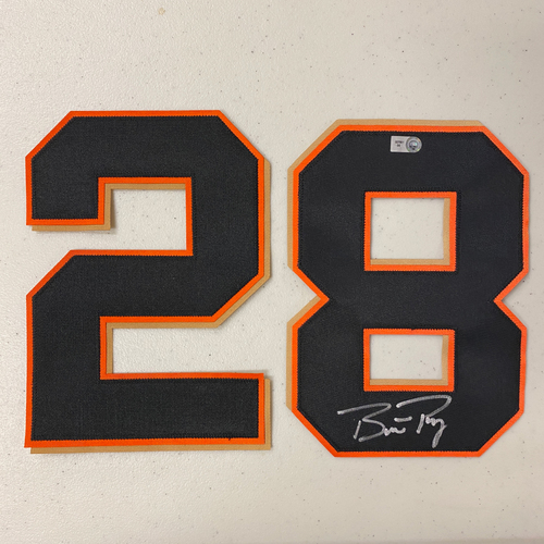 Photo of #28 Buster Posey Autographed Number *#8 is UPSIDE DOWN* (*No Jersey Included* JERSEY NUMBERS ONLY)