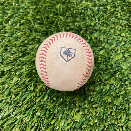 Photo of 2019 Spring Training Game-Used Baseball - BOS vs. MIN - 3/1 - Pitcher - Mark Montgomery - Batter - Jordany Valdespin (Hit by Pitch) - Bot 8
