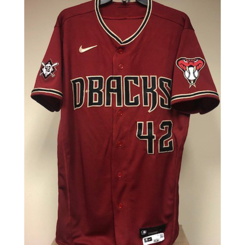 Photo of Eduardo Escobar Game-Used 2021 Jackie Robinson Day Jersey - 4/15/2021 vs. Nationals - Escobar Goes 2-5 with a Home Run and a Single off Patrick Corbin - Size 42