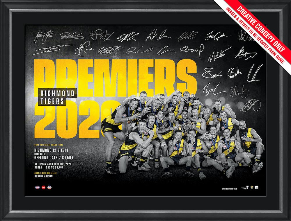 2020 Premiers Framed Sportsprint - Edition #80