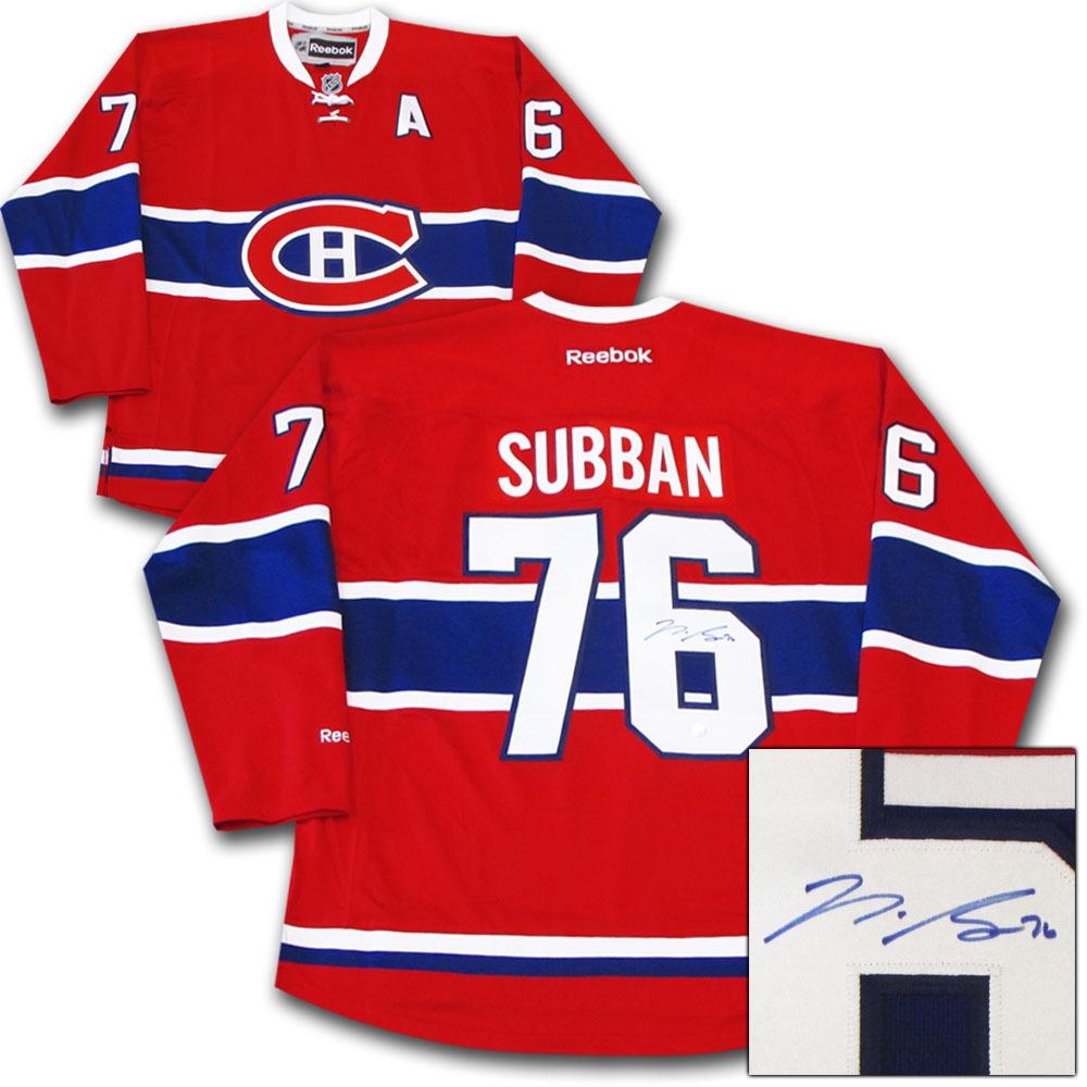 montreal canadiens subban jersey