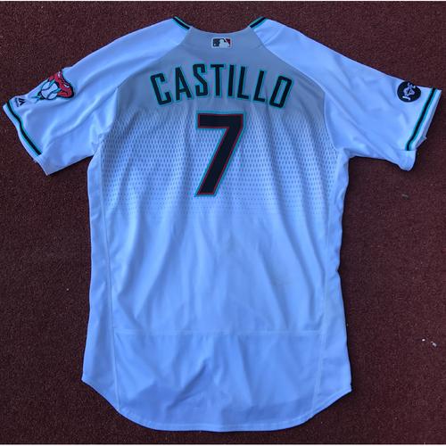 Welington Castillo 2016 Game-Used Jersey
