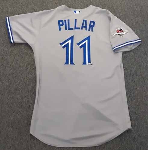 Photo of Authenticated Team Issued 2015 Postseason Jersey - #11 Kevin Pillar. Size 46.