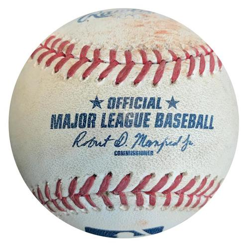 Photo of Game-Used Baseball from Pirates vs. Marlins on 5/27/15 - Justin Bour Single