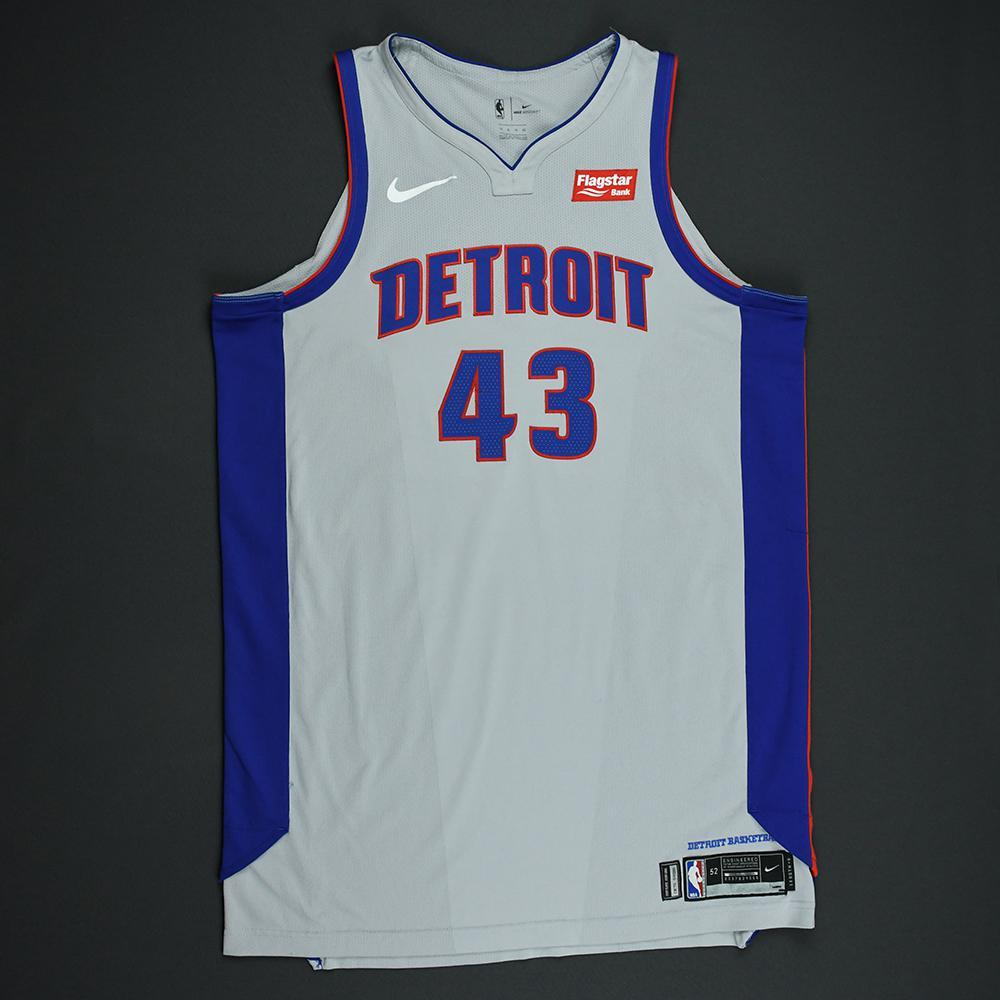 reputable site bdba0 7b45b Anthony Tolliver - Detroit Pistons - Statement Game-Worn ...