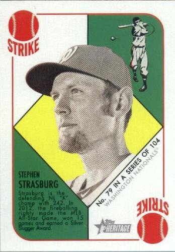 Photo of 2015 Topps Heritage '51 Collection #79 Stephen Strasburg
