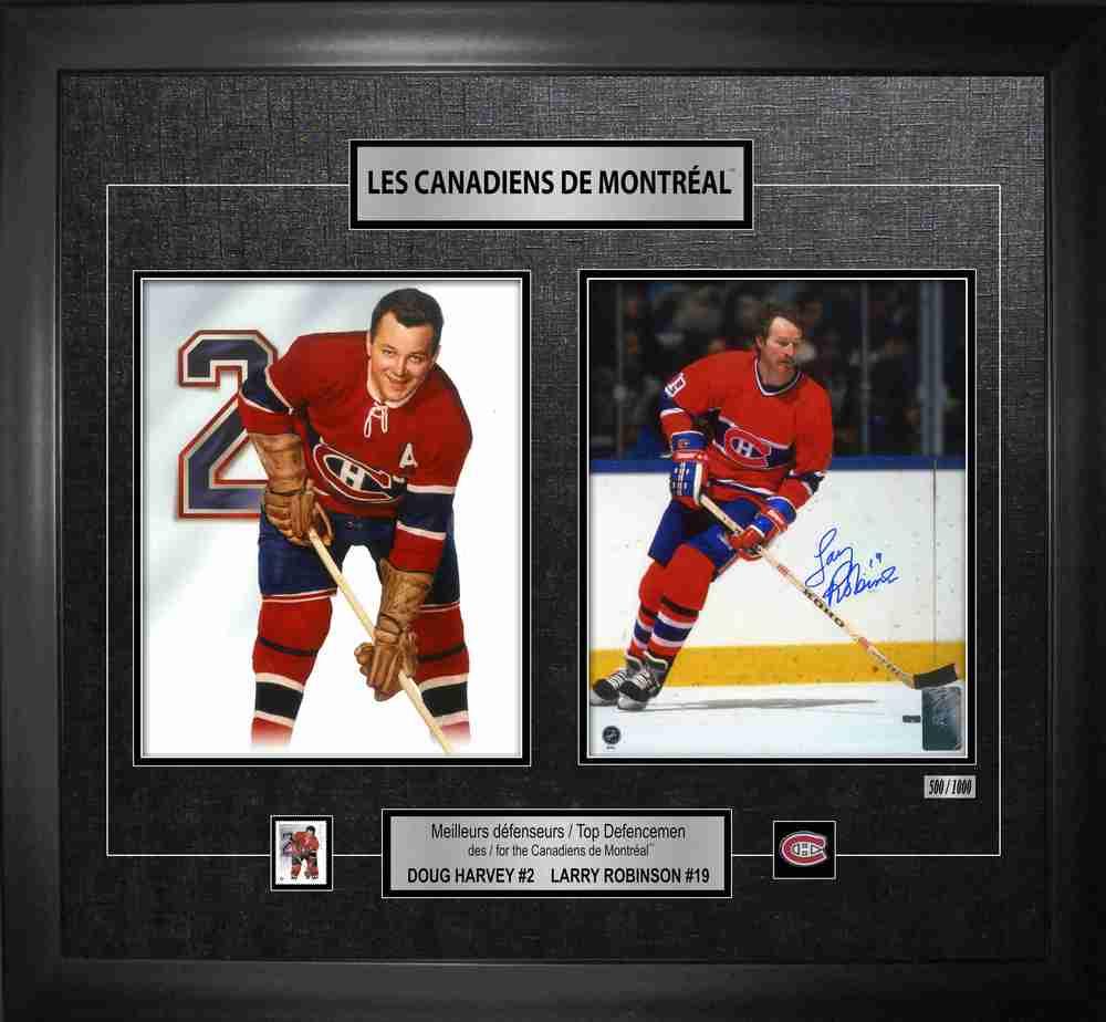 Larry Robinson Signed Canada Post Defencemen Collage Canadiens L/E 1000