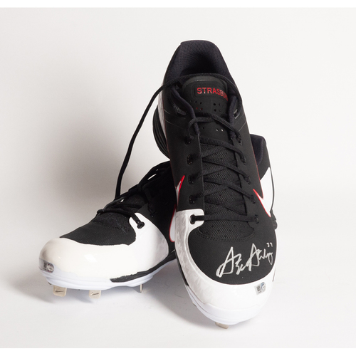 Photo of Autographed Stephen Strasburg Cleats - Winning Bidder Can Pick Up Items Directly From Stephen on September 24, 2018