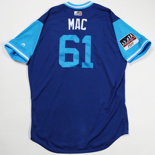 "Photo of Kevin ""Mac"" McCarthy Kansas City Royals Game-Used Jersey 2018 Players' Weekend Jersey"
