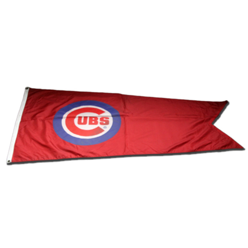 Photo of Wrigley Field Collection -- Cubs Rooftop Flag -- Flown during 2018 Season -- Cubs Bullseye Logo