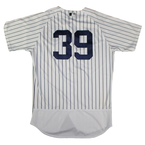 Photo of Tyler Wade New York Yankees 2018 Spring Training Opening Day Home Game Used #39 Pinstripe Jersey (2/23/2018)