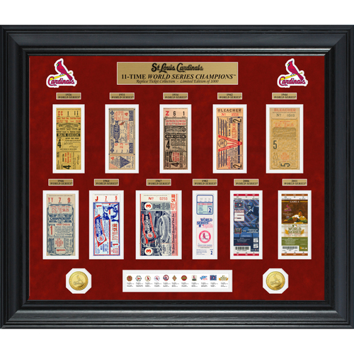 Photo of St. Louis Cardinals World Series Deluxe Gold Coin & Ticket Collection
