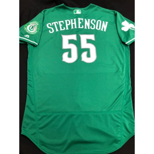 Photo of Robert Stephenson -- Team-Issued Jersey -- 2019 St. Patrick's Day