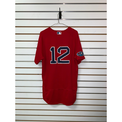 Photo of Brock Holt Game Used October 5th & 6th, 2018 Home Alternate Jersey