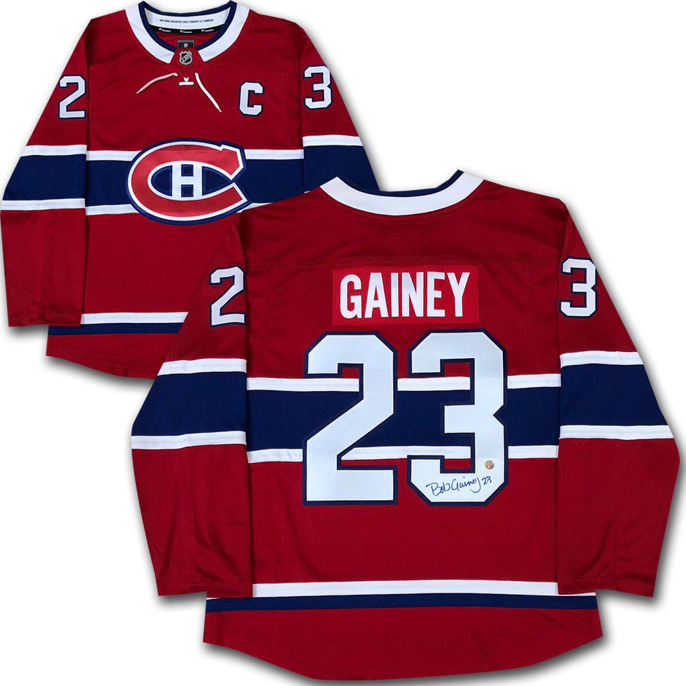 Bob Gainey Autographed Montreal Canadiens Jersey