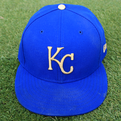 Photo of Game-Used Cap: Hunter Dozier (Size 7 3/8 - MIN @ KC - 9/27/19)
