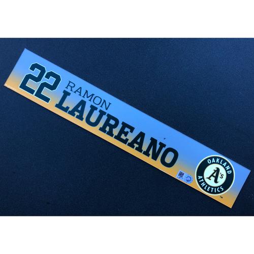 Photo of Game Used 2020 Spring Training Locker Nameplate - Ramon Laureano