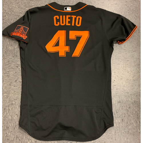 Photo of 2020 Team Issued Spring Training Jersey - #47 Johnny Cueto - authenticated 8/4/20 - size 46