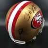 PCC - 49ers Jerry Rice, Joe Montana and Steve Young Signed Proline Helmet
