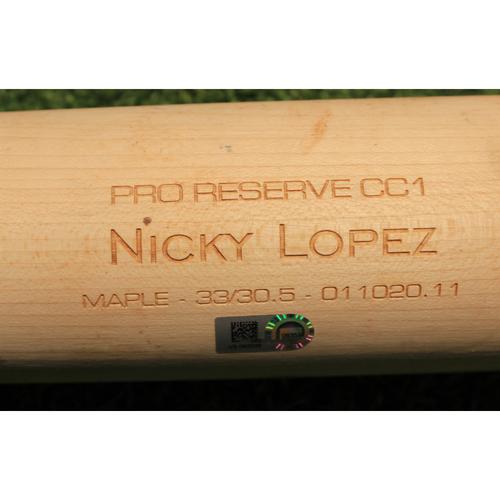 Photo of Team-Issued Broken Bat: Nicky Lopez #1