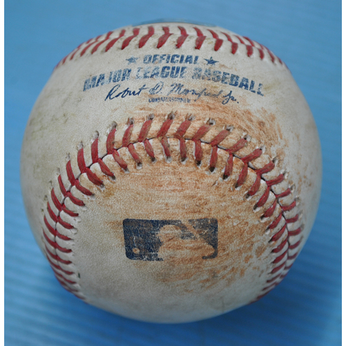 Photo of Game-Used Baseball - CHC at PIT - 9/2/2020 - Pitcher - Joe Musgrove, Batter - Ian Happ (CHC), Top 1, Double