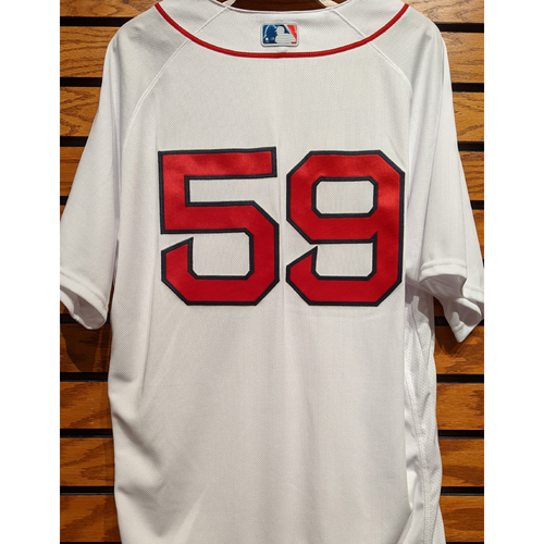 Photo of Sam Travis #59 Team Issued Home White Jersey