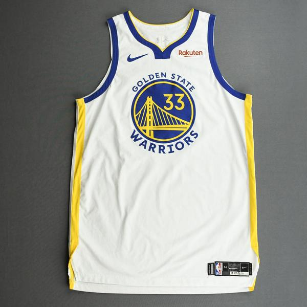 Image of James Wiseman - Golden State Warriors - Game-Worn Association Edition Jersey - Christmas Day' 20 - Worn 2 Games