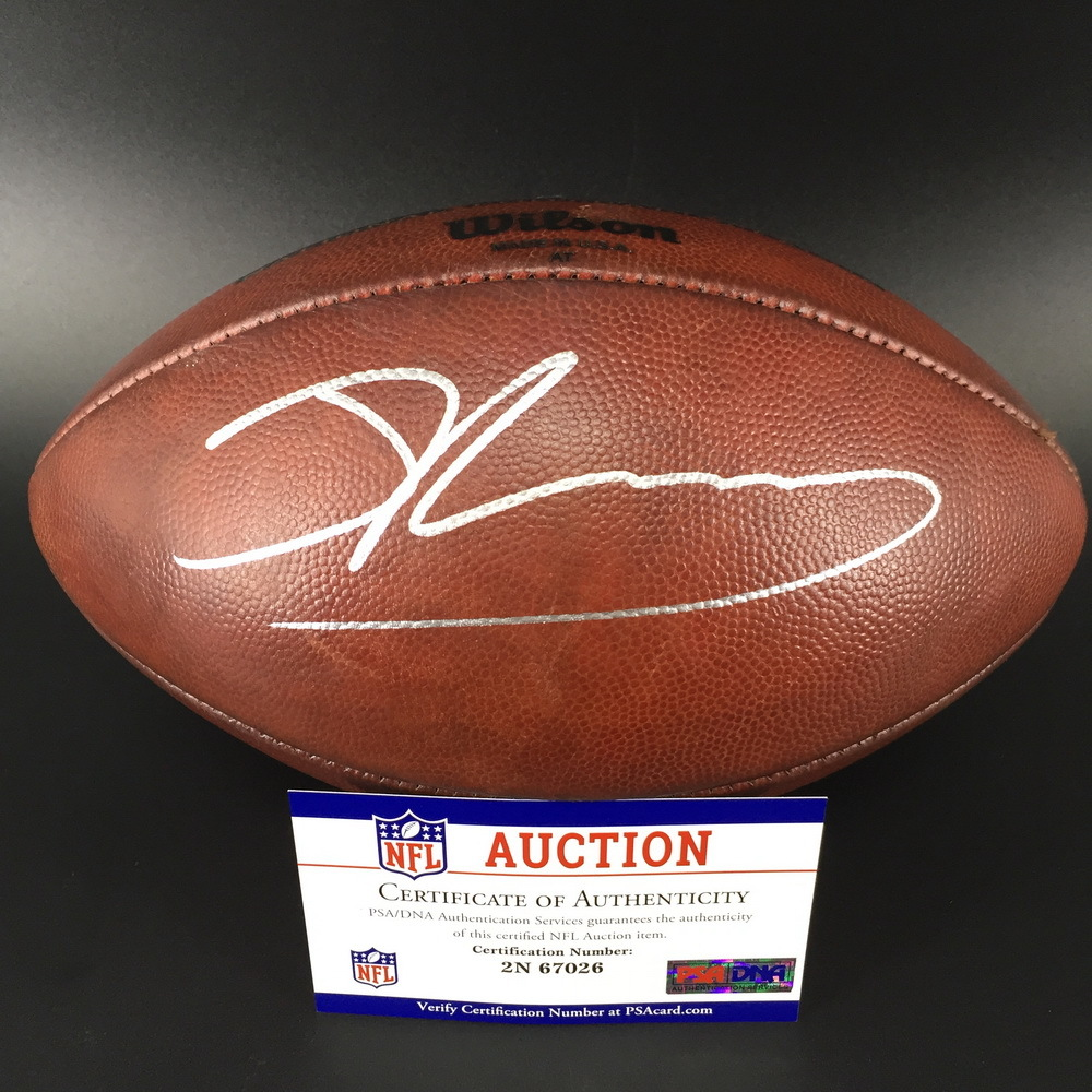 Crucial Catch - Cardinals Josh Rosen Signed Game Used Football (10/7/18)