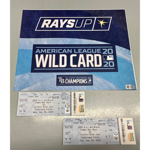 Photo of Team Issued ALWCS Locker Tag and Ticket Stubs: Game #1 and #2 - September 29-30, 2020 v TOR