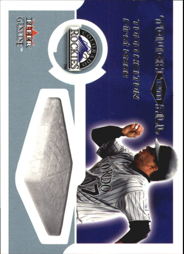 Photo of 2002 Fleer Genuine Touch Em All #15 Todd Helton