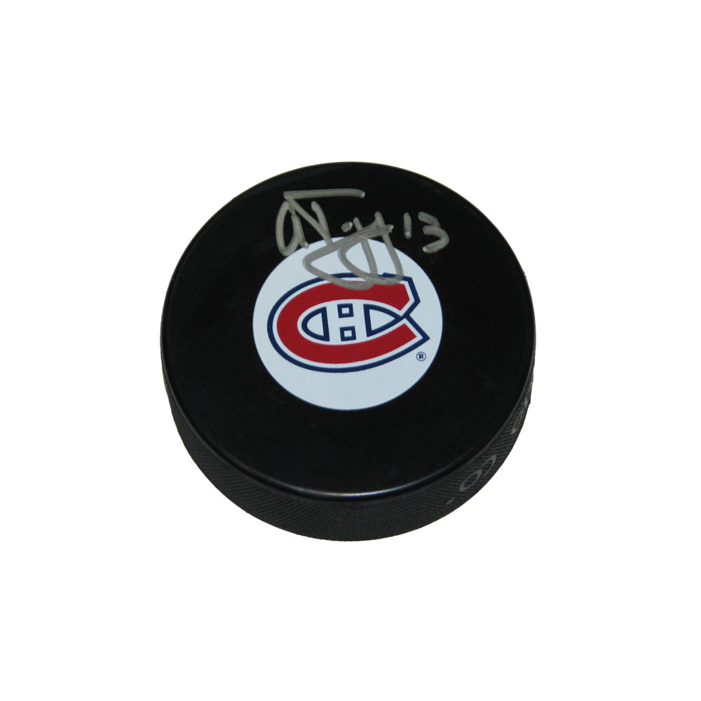 ALEX TANGUAY Signed Montreal Canadiens Puck