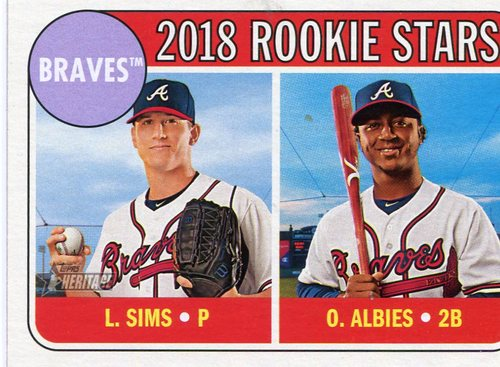 Photo of 2018 Topps Heritage #331 Ozzie Albies RC/Lucas Sims RC