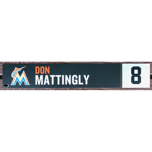 Photo of Game-Used Locker Name Plate: Don Mattingly