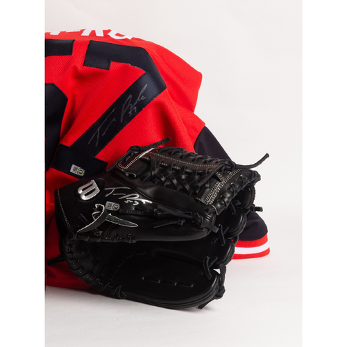Photo of Autographed Tanner Roark Glove and Players' Weekend Jersey - Winning Bidder Can Pick Up Items Directly From Tanner on September 24, 2018